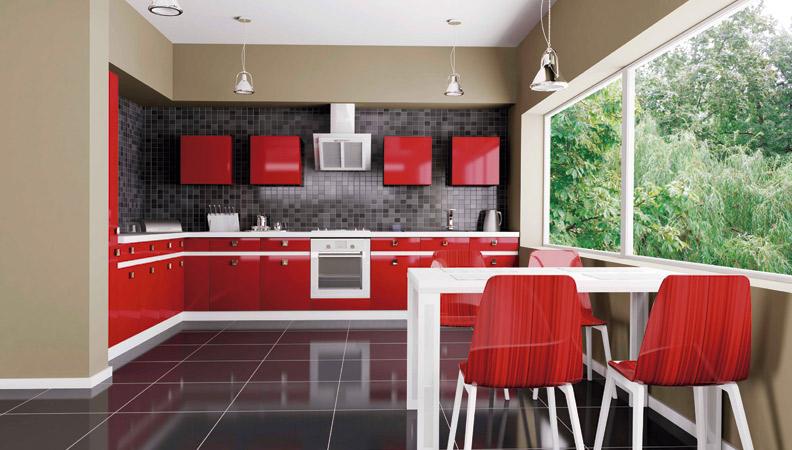 reformas integrales en alcobendas cocina roja y negra
