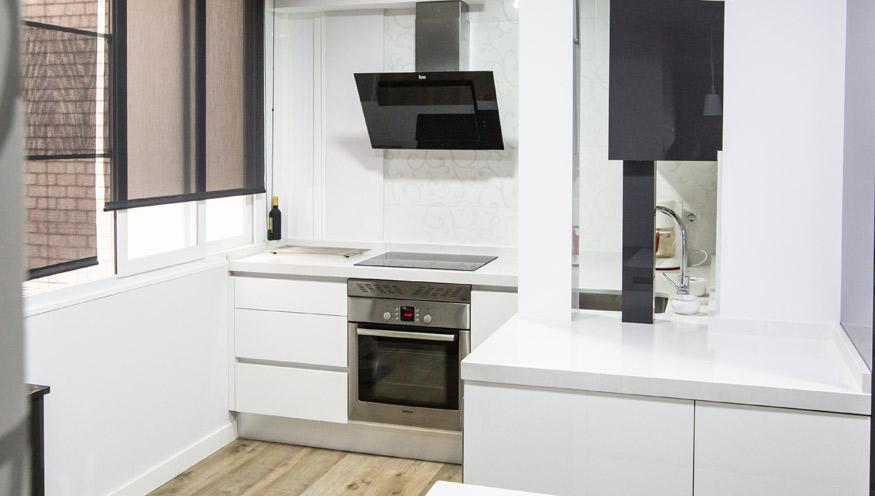 cocina nueva blanca